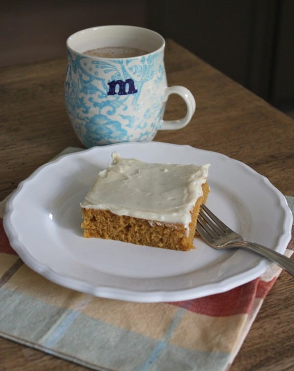 Pumpkin Squares with Cream Cheese Frosting Recipe {The BEST!}