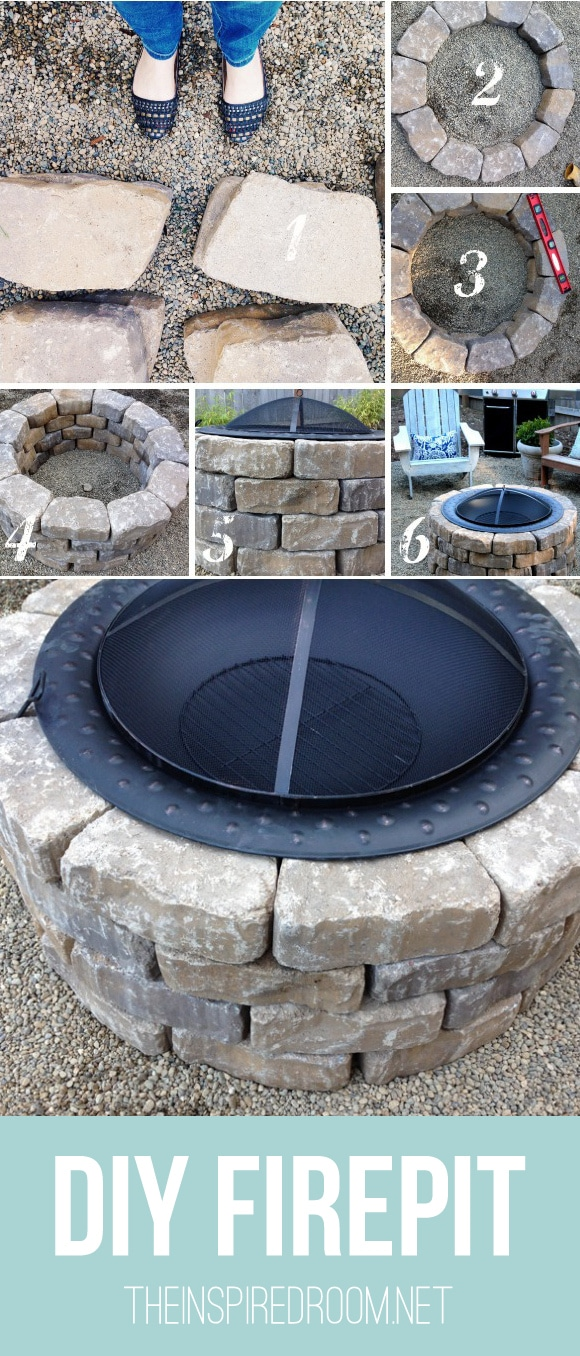 easy diy firepit progress on the fall backyard makeover project