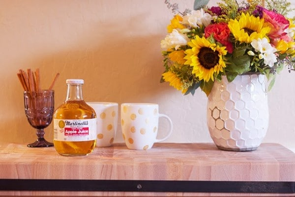DIY Gold Polka Dot Mugs {& Apple Cider Recipe}