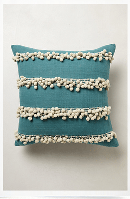 anthropologie tassel pillow