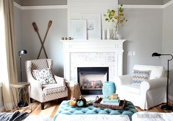cozy fall family room