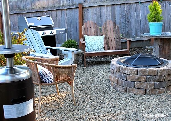 diy firepit backyard makeover progress