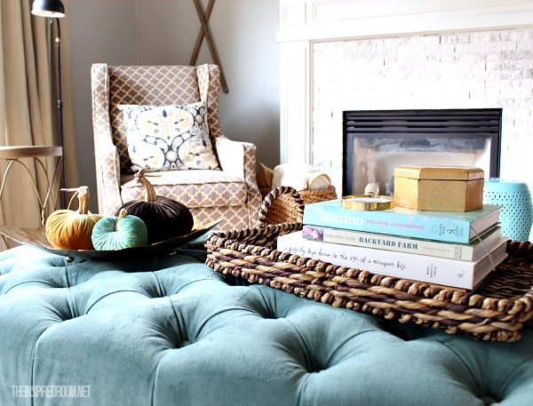 Cozy up for Fall in the Family Room {new updates!}