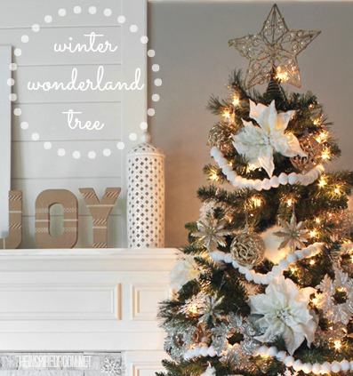 winter wonderland christmas tree - Winter Wonderland Christmas Decorating Ideas