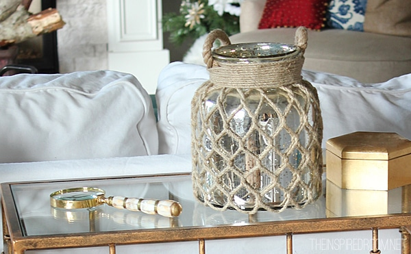 Christmas Decor Mercury Glass Lantern The Inspired Room