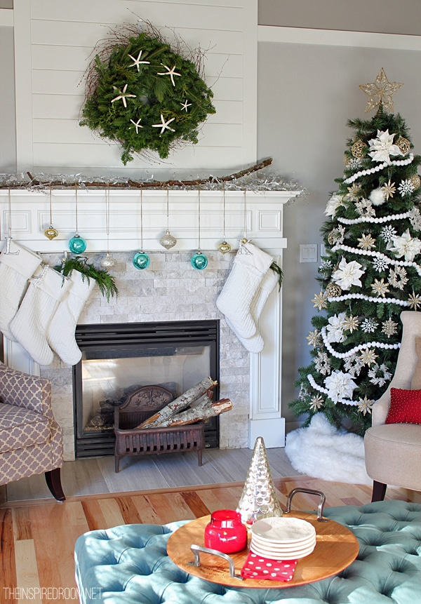 Favorite Christmas Decorating in the Family Room The Inspired Room 600 x 861 · 588 kB · jpeg