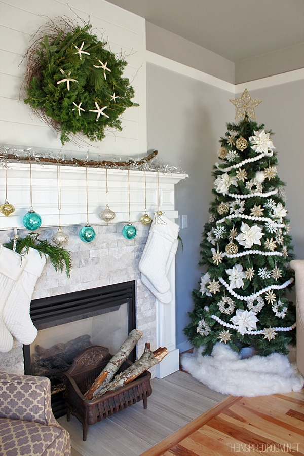 Christmas Mantel Decorating - The Inspired Room