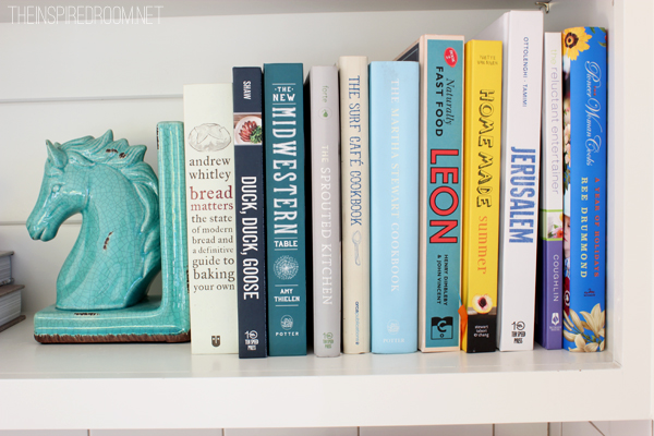 Cookbooks horse bookend