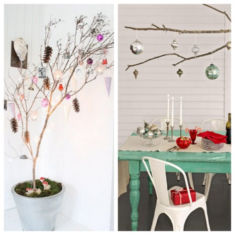 Decorating with Branches - Whimsical Christmas
