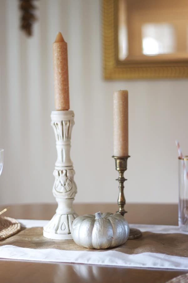 Fall Tablescape - Candlesticks