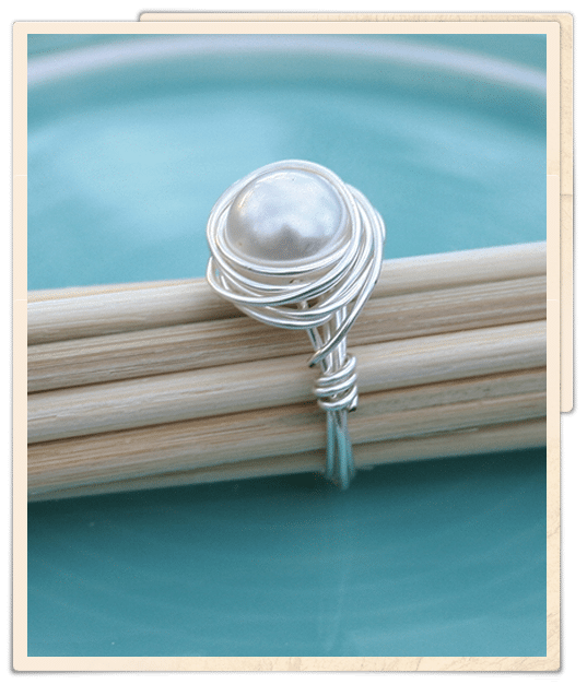 Pearl Nest Ring The Vintage Pearl