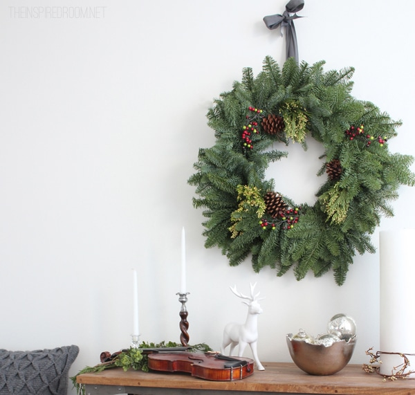 Simple Christmas Decorating The Inspired Room Dining Room