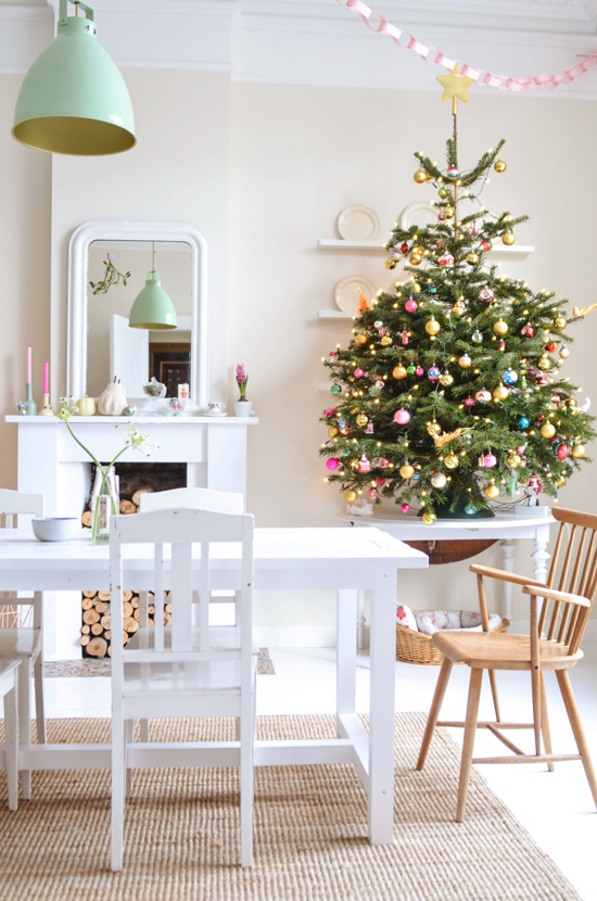 Whimsical and Colorful Christmas Decorating