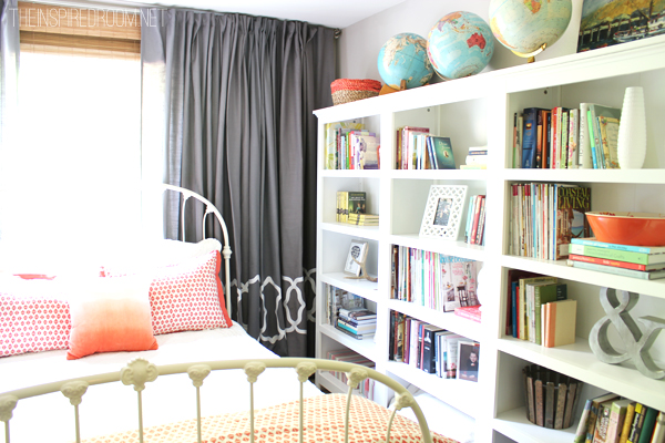 A home library with three Target Threshold bookcases!