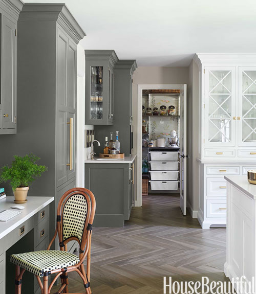 Gray Kitchen White Cabinets beautiful white and gray kitchen - the inspired room