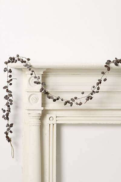 pine cone garland anthropologie
