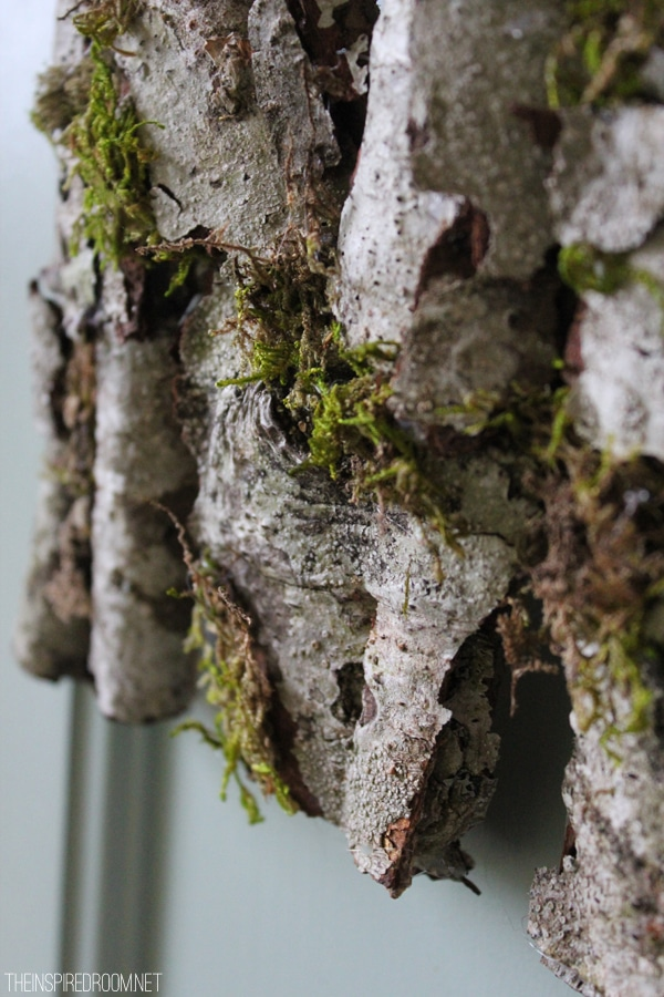 rustic bark wreath
