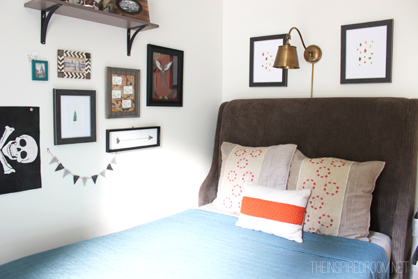 Teen Boy Bedroom Makeover Progress: The New Bed - The Inspired Room