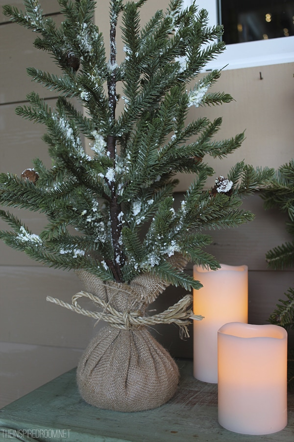 Christmas Decorating with Rustic Trees and Candles