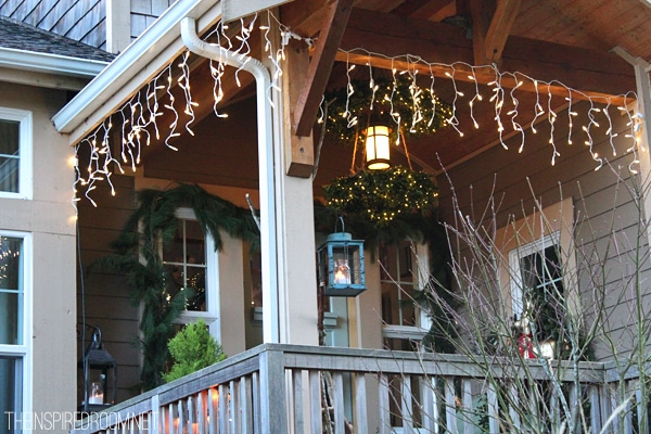 my christmas front porch diy boxwood wreath chandelier