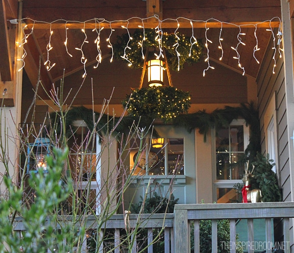 My Christmas Front Porch & DIY Boxwood Wreath Chandelier!