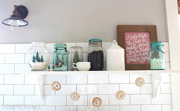 Christmas Mason Jars and Banner The Inspired Room Kitchen