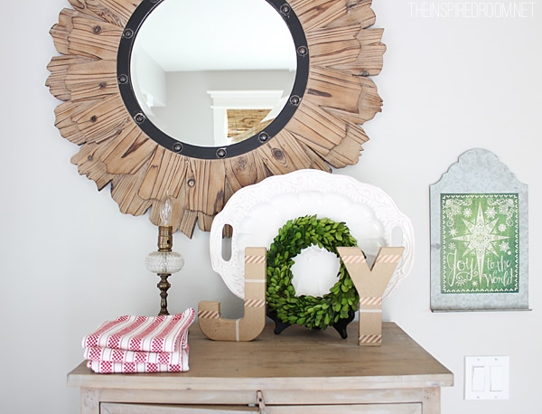 Christmas Joy with Simplicity {Cardboard Letters}