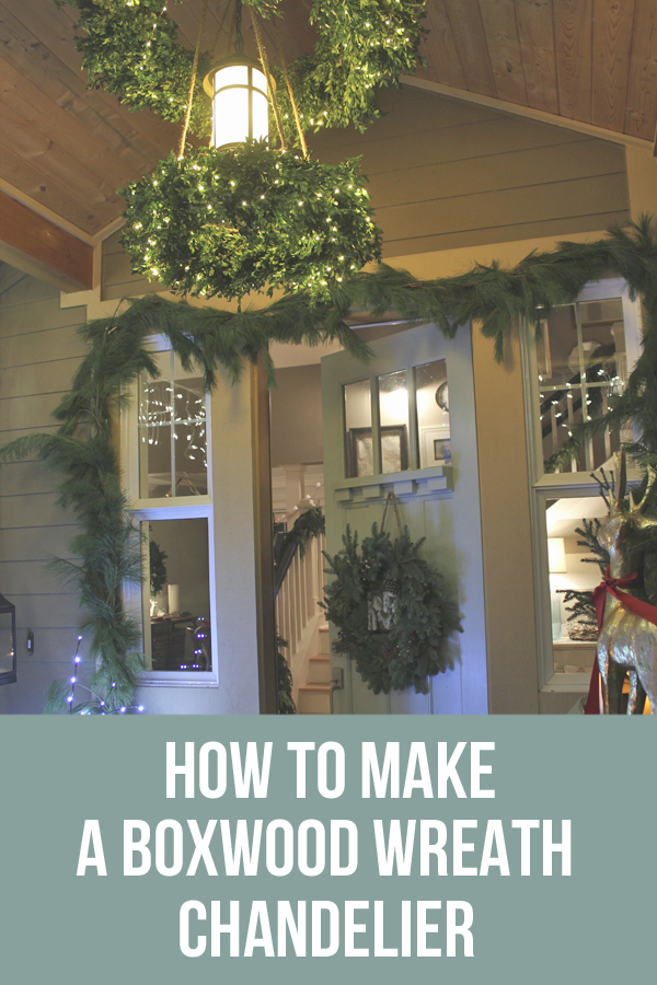 DIY How-To-Tutorial-Christmas-Wreath-Chandelier - The Inspired Room