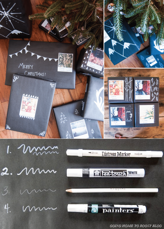 DIY Wrapping Paper-  Chalkboard Wrapping Paper