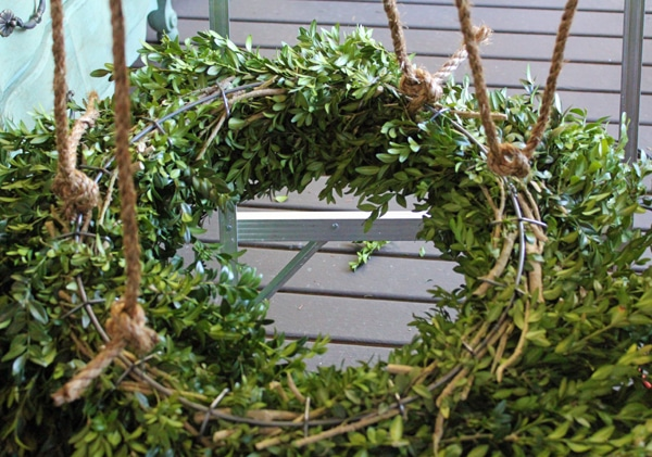 DIY Wreath Chandelier tutorial the inspired room