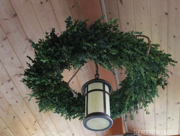 DIY double wreath chandelier tutorial