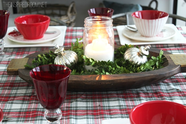 Easy Christmas Centerpiece The Inspired Room Christmas House Tour