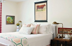 Farmhouse Style Guest Room from Savvy Southern Style