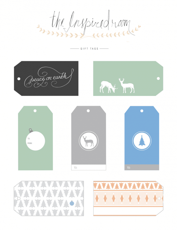 Fun christmas gift tags free printables the inspired room fun christmas gift tags free printables negle Image collections