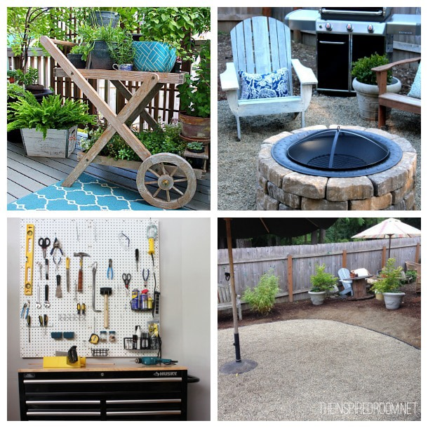 Garage & Backyard Projects - The Inspired Room