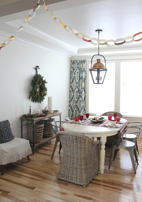 Simple Christmas Decorating - The Inspired Room Christmas Dining Room