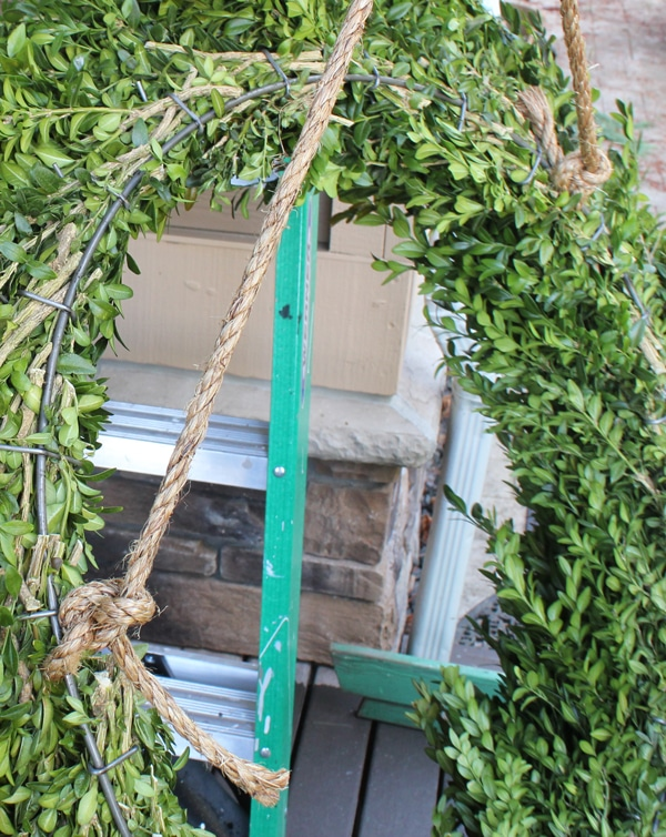 diy boxwood wreath ropes