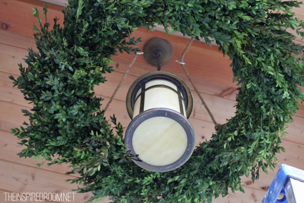 how to make a wreath chandelier tutorial at the inspired room