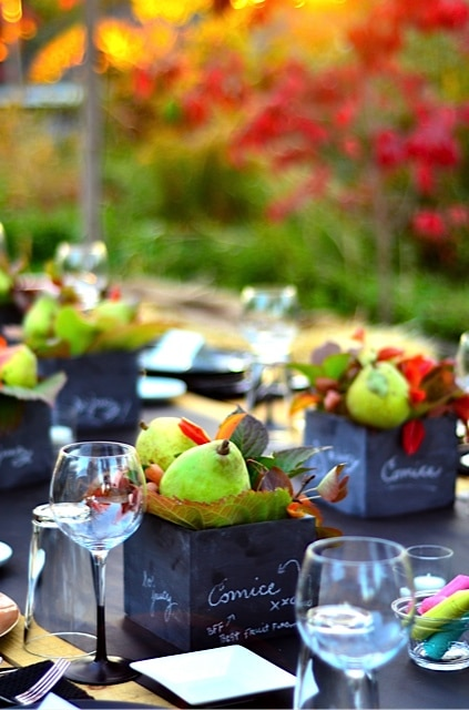 pear centerpieces