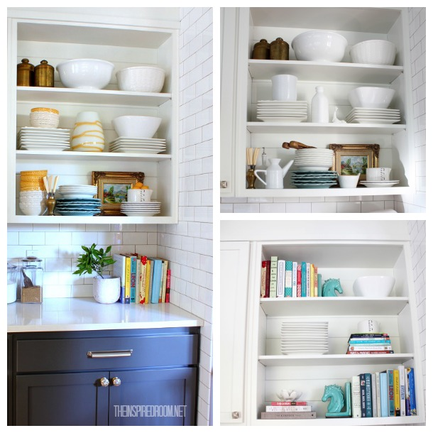 styling open shelves - the inspired room