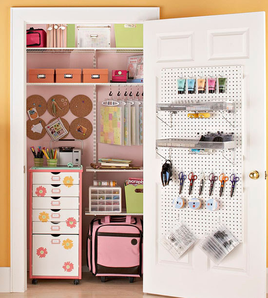 Inspiration craft closet organization the inspired room for Craft supplies organization ideas
