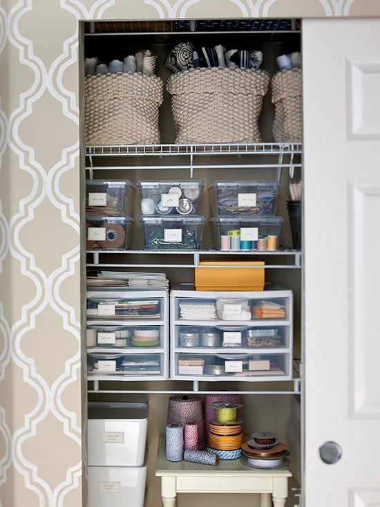 Inspiration craft closet organization the inspired room for Organizing ideas for closets