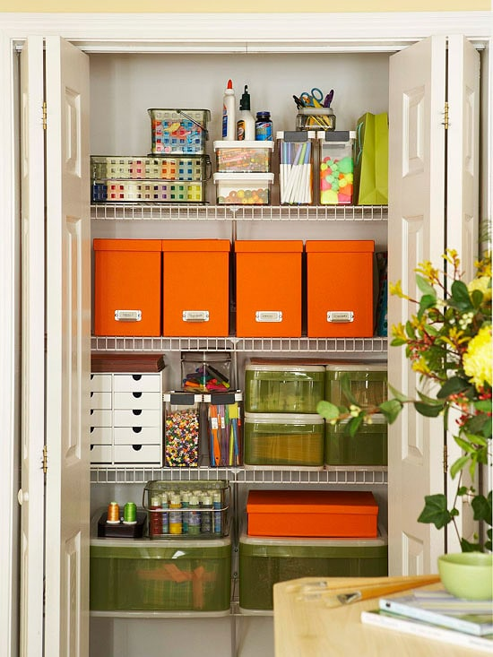 {Inspiration} Craft Closet Organization