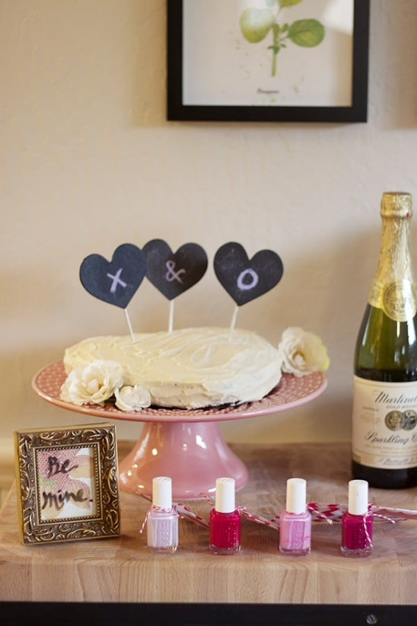 Valentine's Day Party & DIY Cake Topper