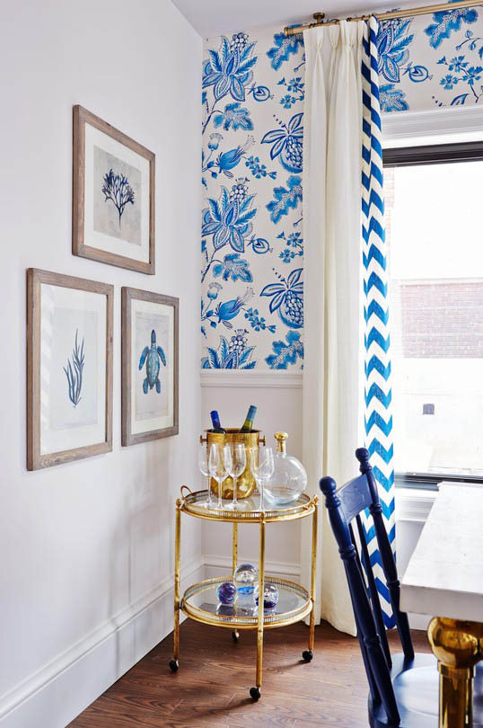 Blue and white kitchen - Sarah Richardson
