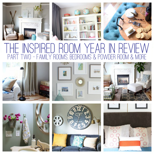 My House Projects in 2013 Part 2 {Family & Media, Dining Room, Bedrooms, Bath & More}