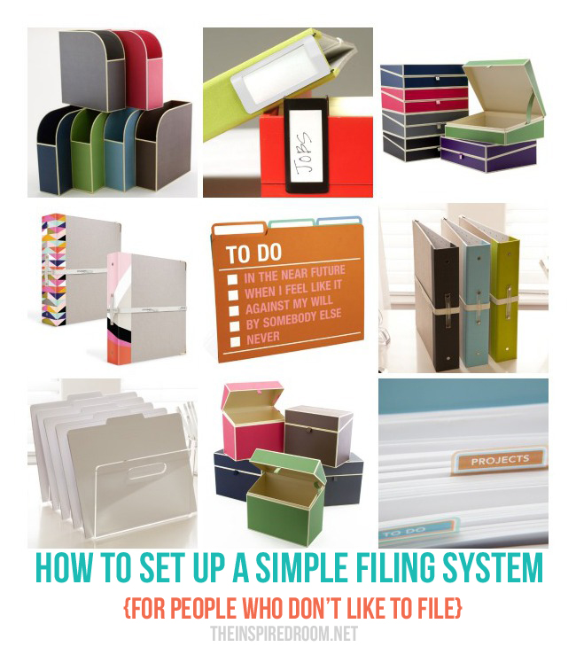 How to Set Up A Paper Filing System {For People Who Don't Like to File!}