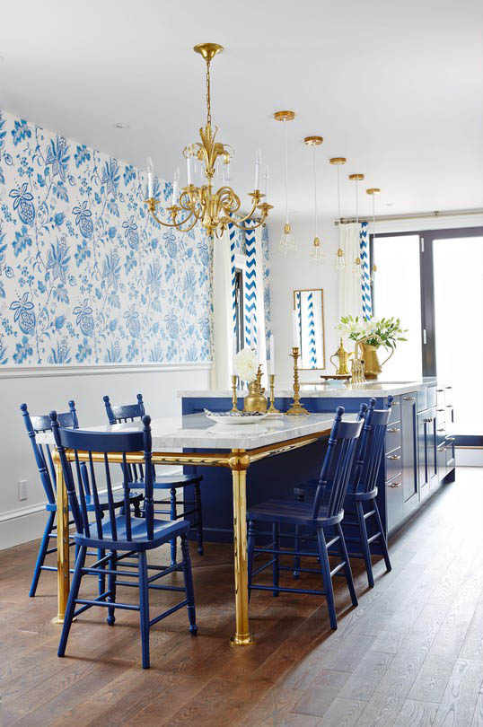 Sarah Richardson's Blue and White Kitchen