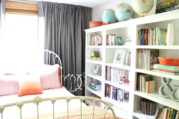 Cozy guest room and home library