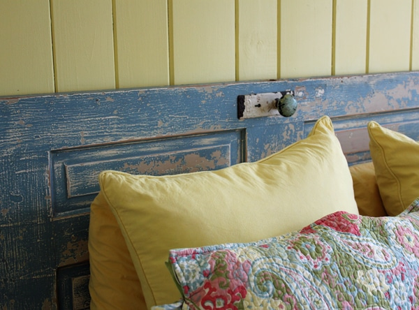 Door as headboard